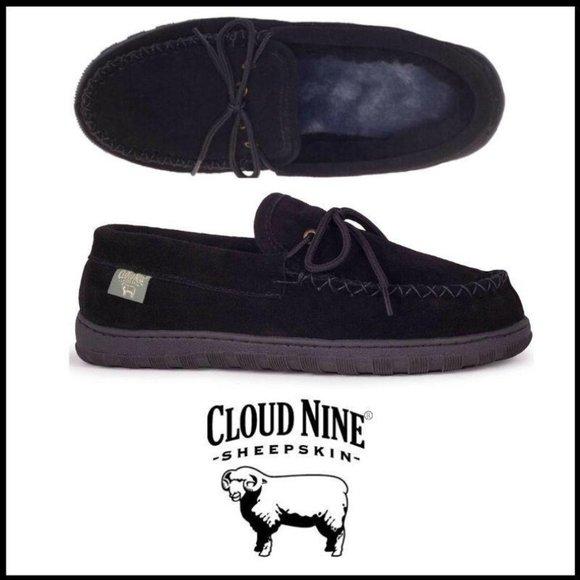 Nwt Sheepskin Lined Black Moccasin 9m